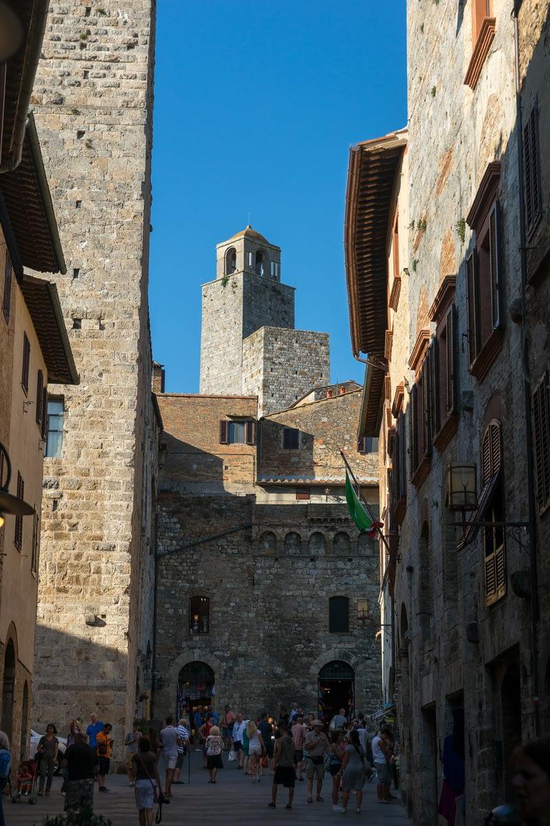 San Gimgnano - a híres tornyok egyike