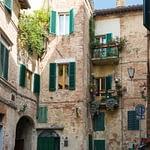 Siena, Toscana - egy hangulatos mellékutca