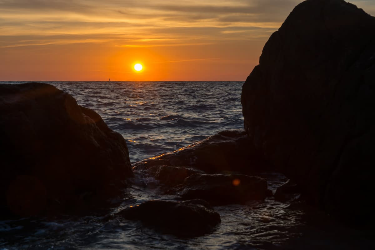 Vada, la spiaggia biancha - toszkán tengerparti naplemente